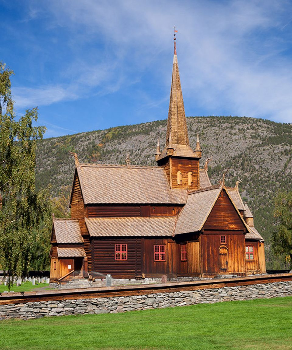 stave church Lom in norway