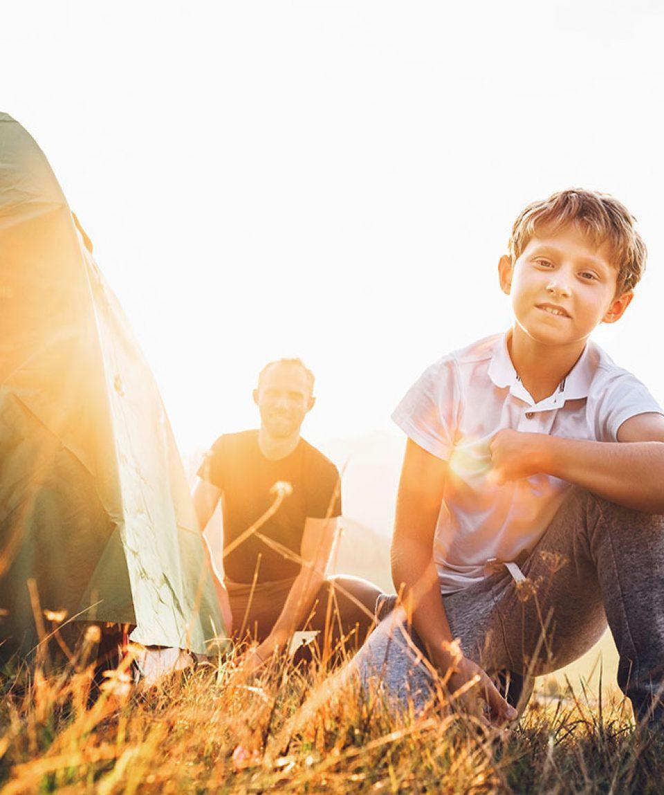 OutdoorSurvival-vor Zelt