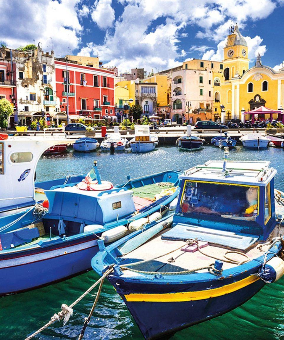 Procida , beautiful colorful small island of Itay