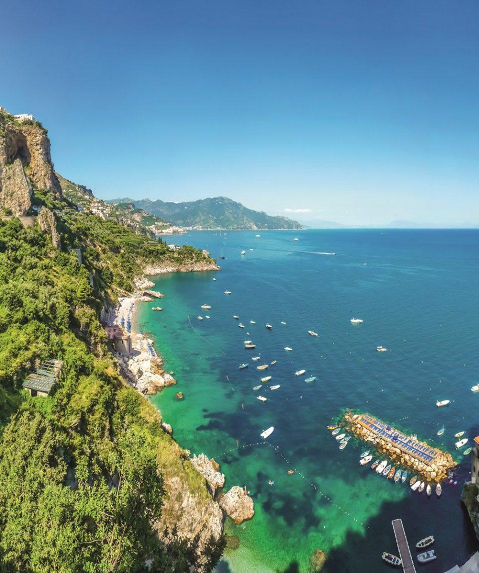 Scenic view of Amalfi Coast, Campania, Italy